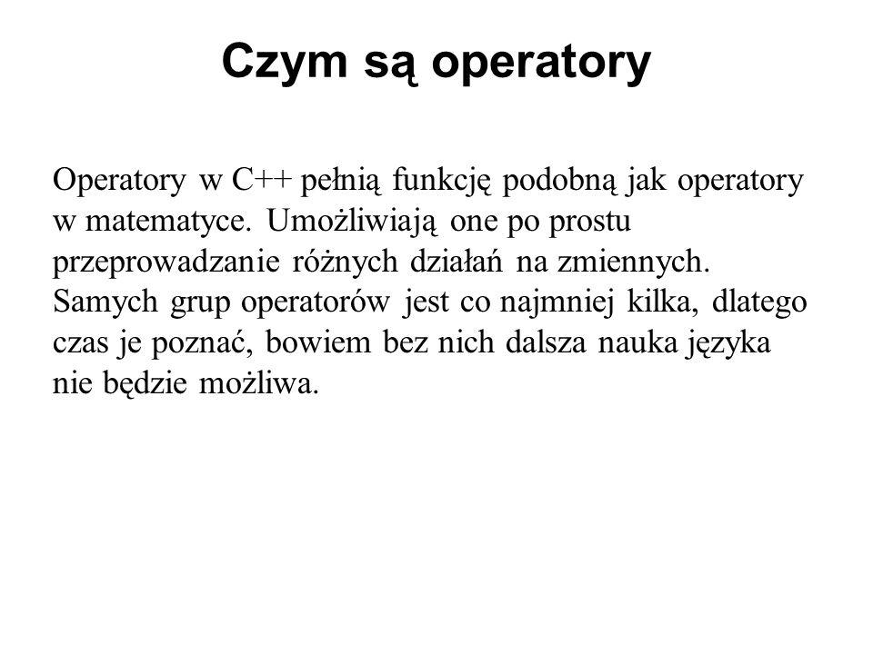 Czym są operatory