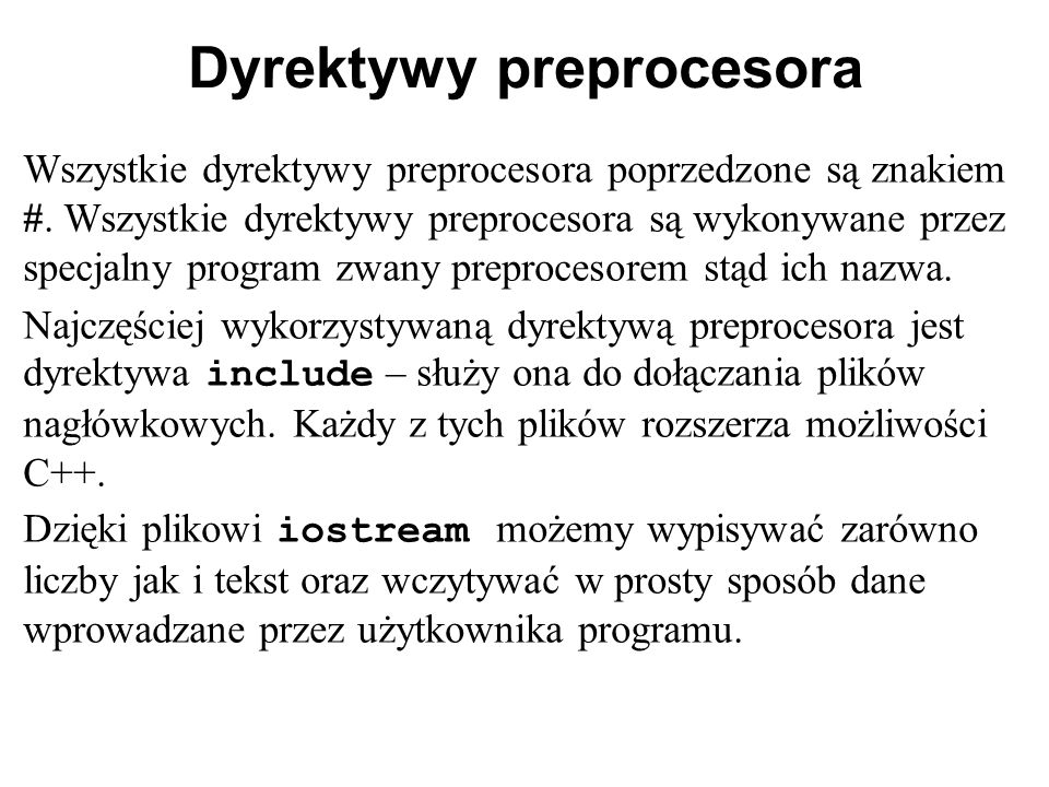 Dyrektywy preprocesora