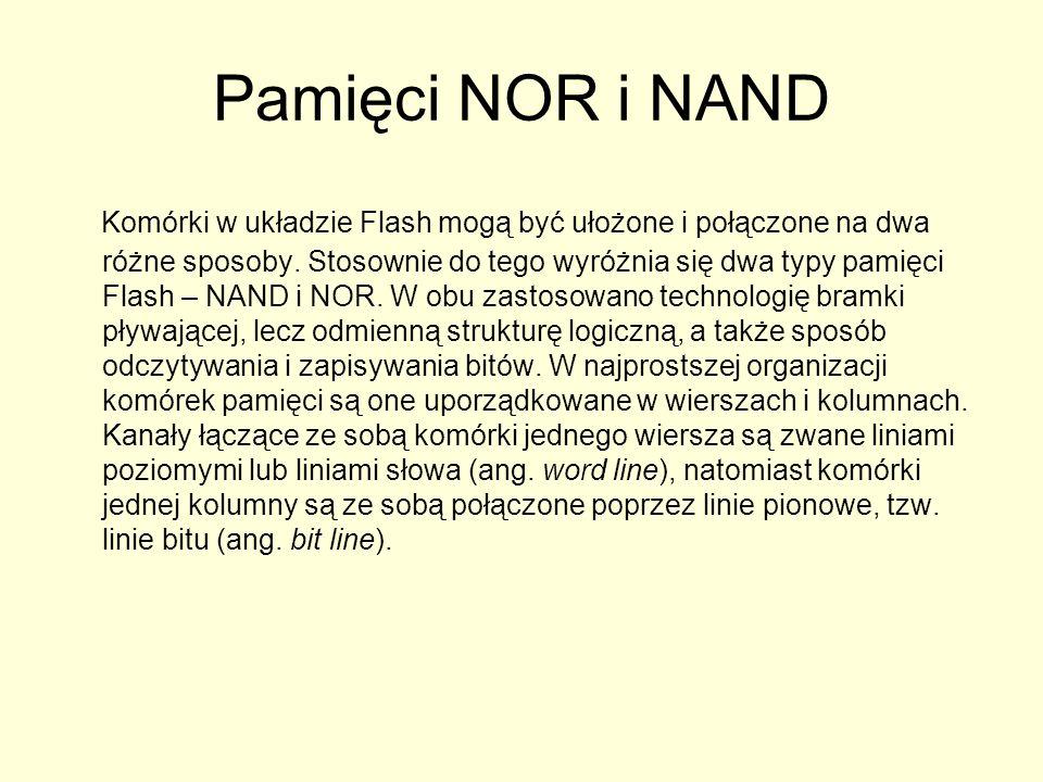 Pamięci NOR i NAND