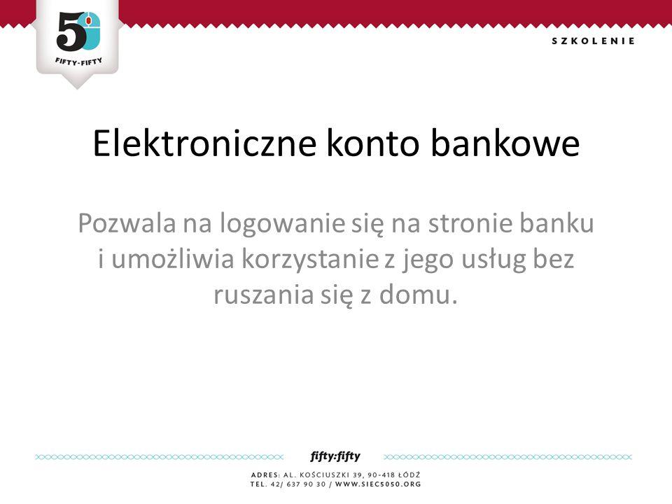 Elektroniczne konto bankowe