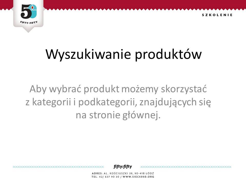 Wyszukiwanie produktów