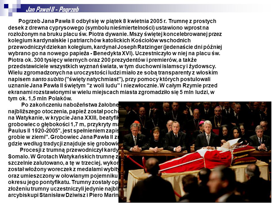 Jan Paweł II - Pogrzeb