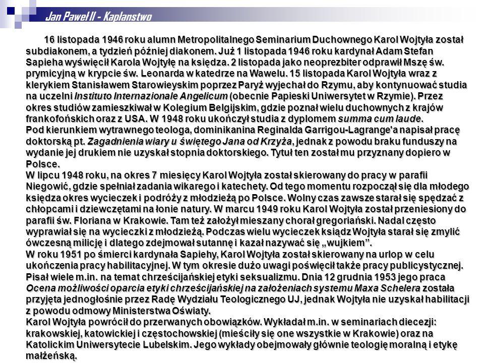 Jan Paweł II - Kapłanstwo