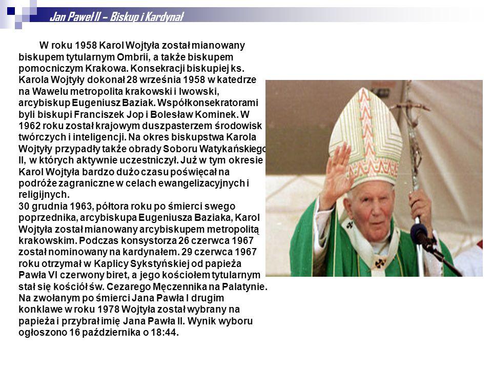 Jan Paweł II – Biskup i Kardynał