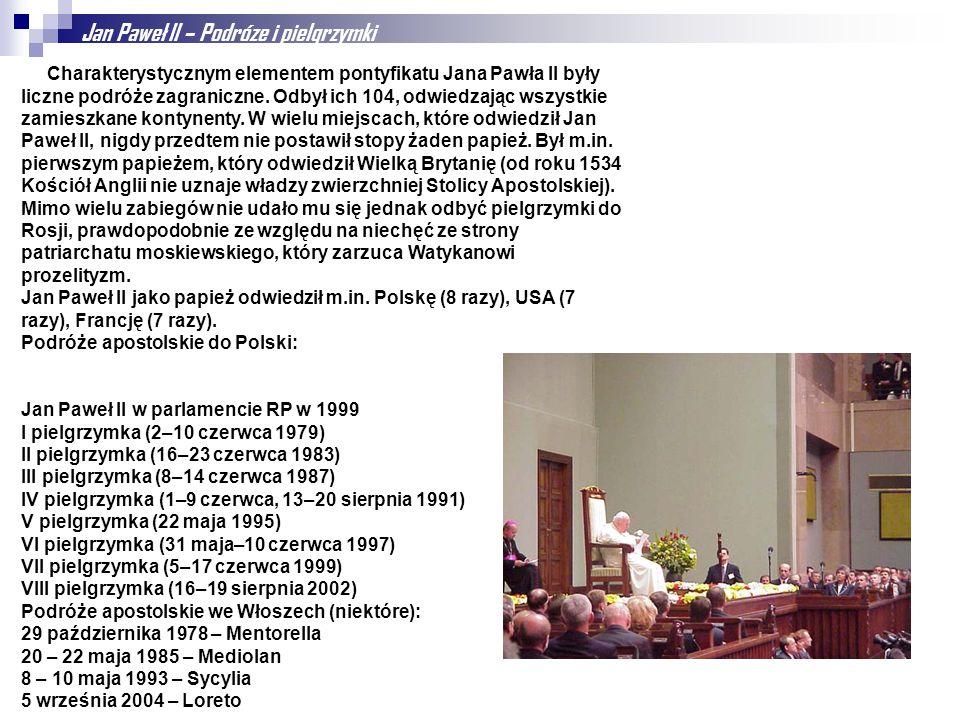 Jan Paweł II – Podróze i pielgrzymki