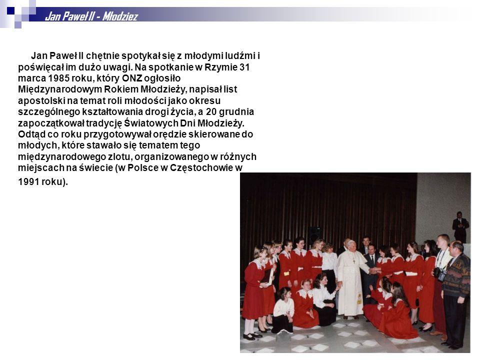 Jan Paweł II - Młodziez