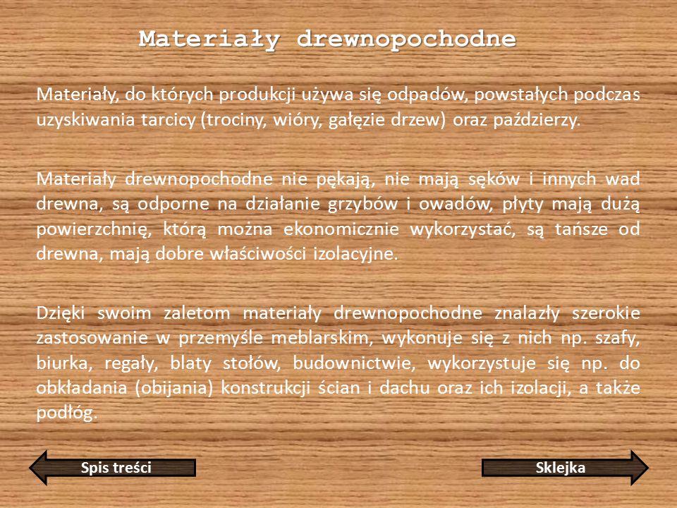 Materiały drewnopochodne