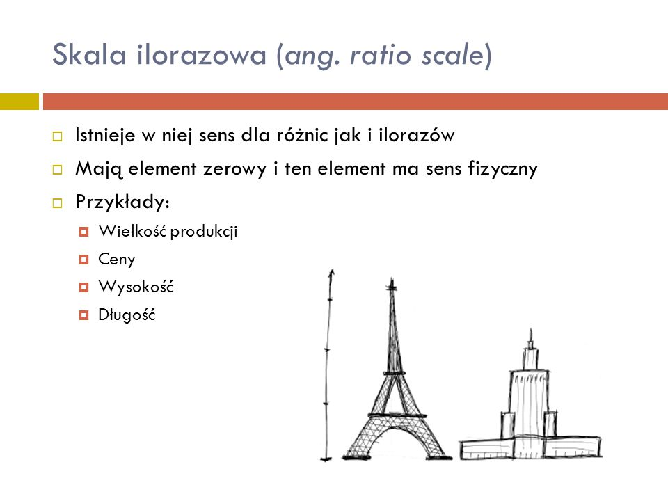 Skala ilorazowa (ang. ratio scale)