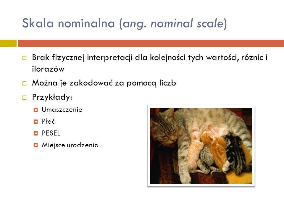 Skala nominalna (ang. nominal scale)