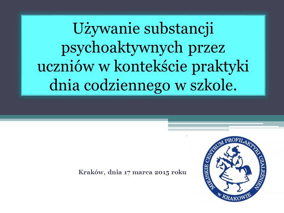 Używanie substancji psychoaktywnych przez uczniów w kontekście praktyki dnia codziennego w szkole.