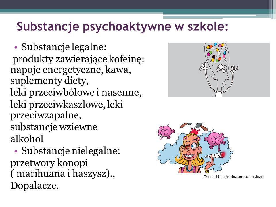 Substancje psychoaktywne w szkole: