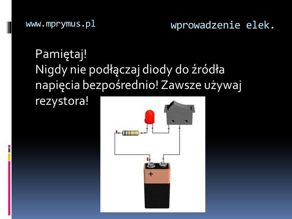 www.mprymus.pl wprowadzenie elek. Pamiętaj.
