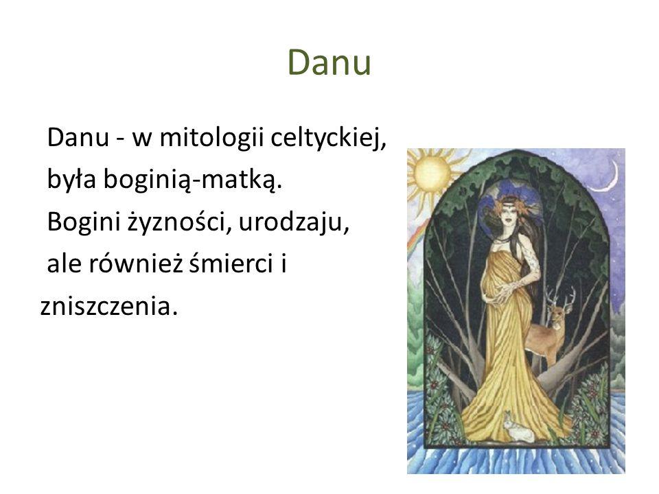 Danu Danu - w mitologii celtyckiej, była boginią-matką.