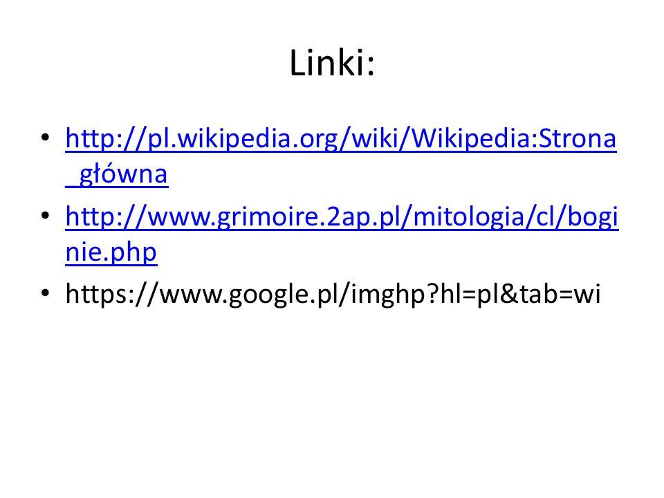 Linki: http://pl.wikipedia.org/wiki/Wikipedia:Strona_główna