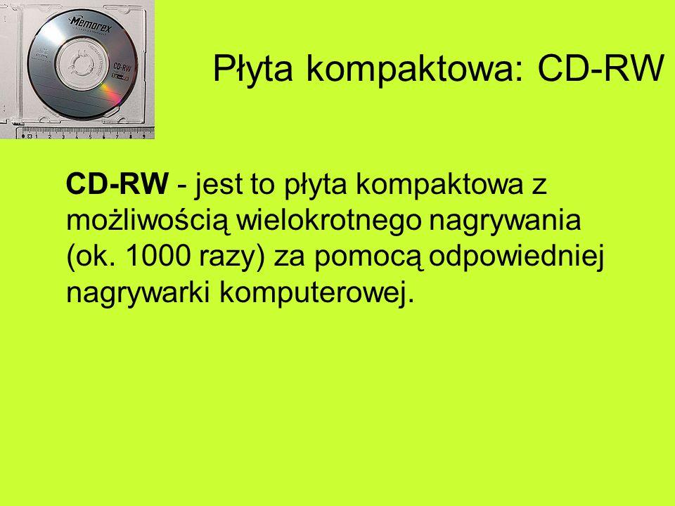 Płyta kompaktowa: CD-RW