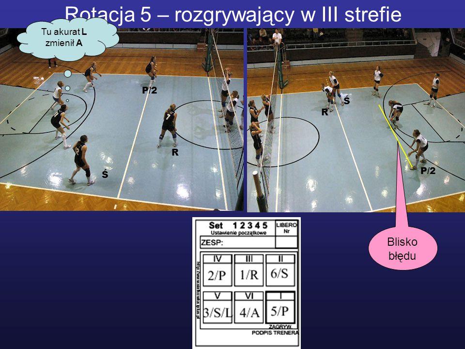 Rotacja 5 – rozgrywający w III strefie