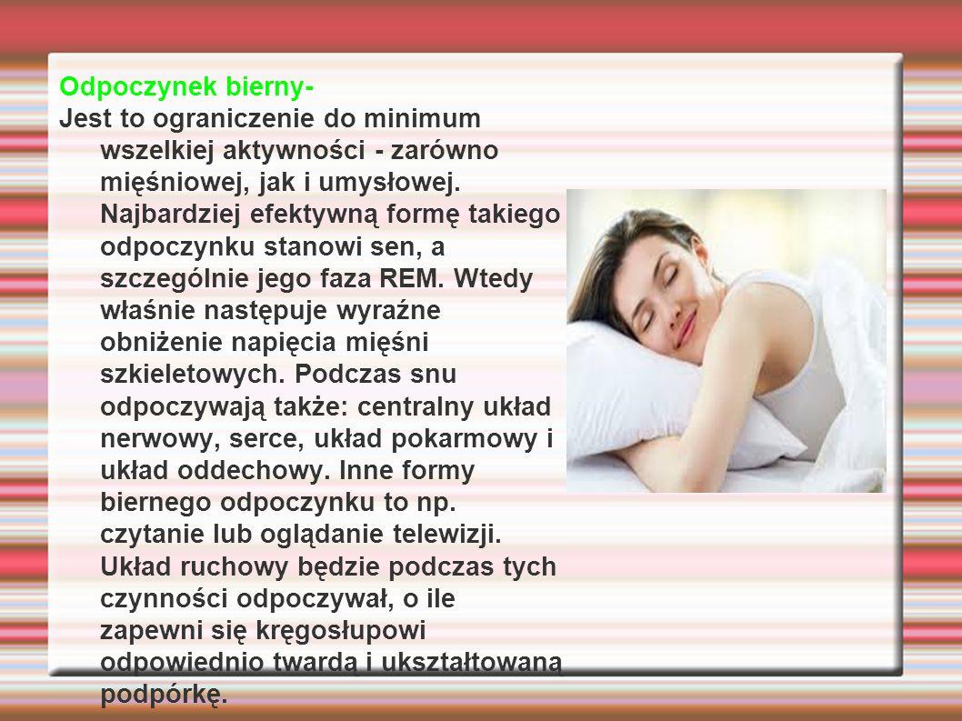 Odpoczynek bierny-
