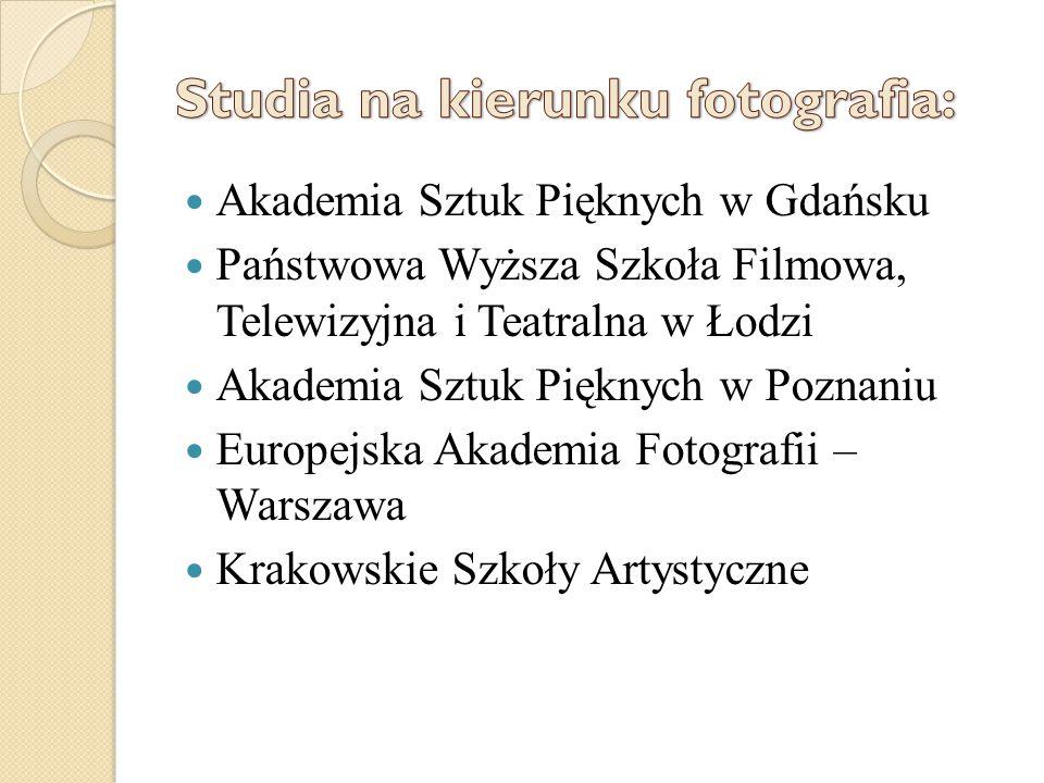 Studia na kierunku fotografia: