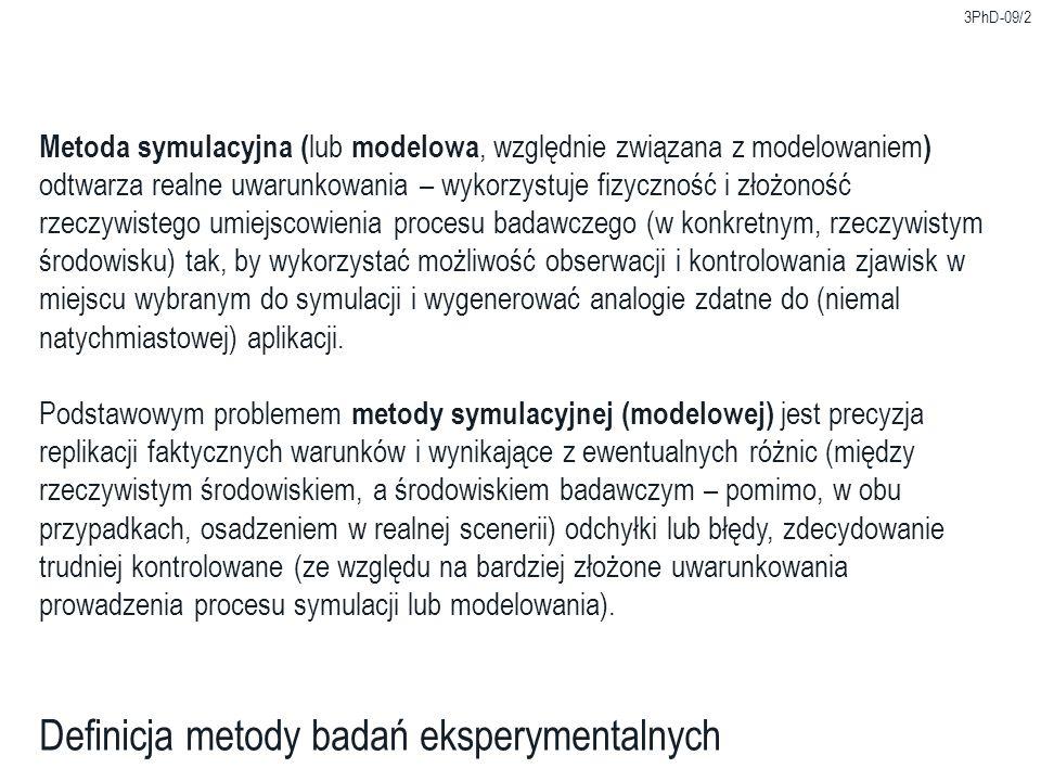Definicja metody badań eksperymentalnych