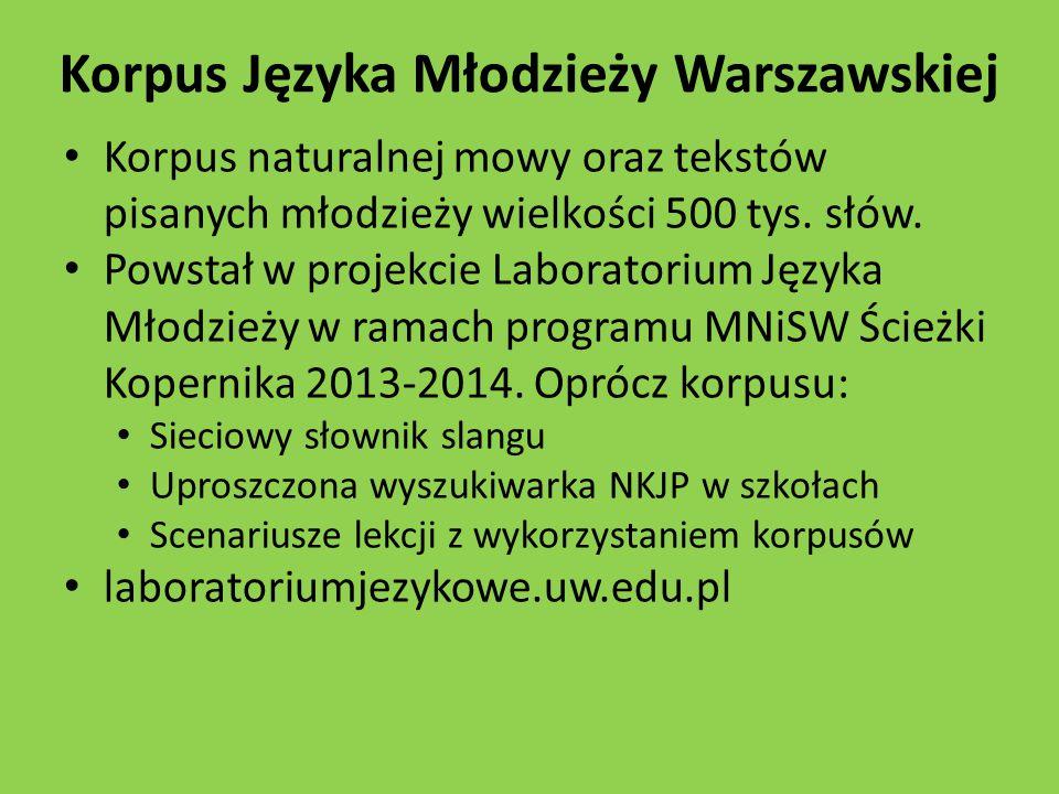 Korpus Języka Młodzieży Warszawskiej