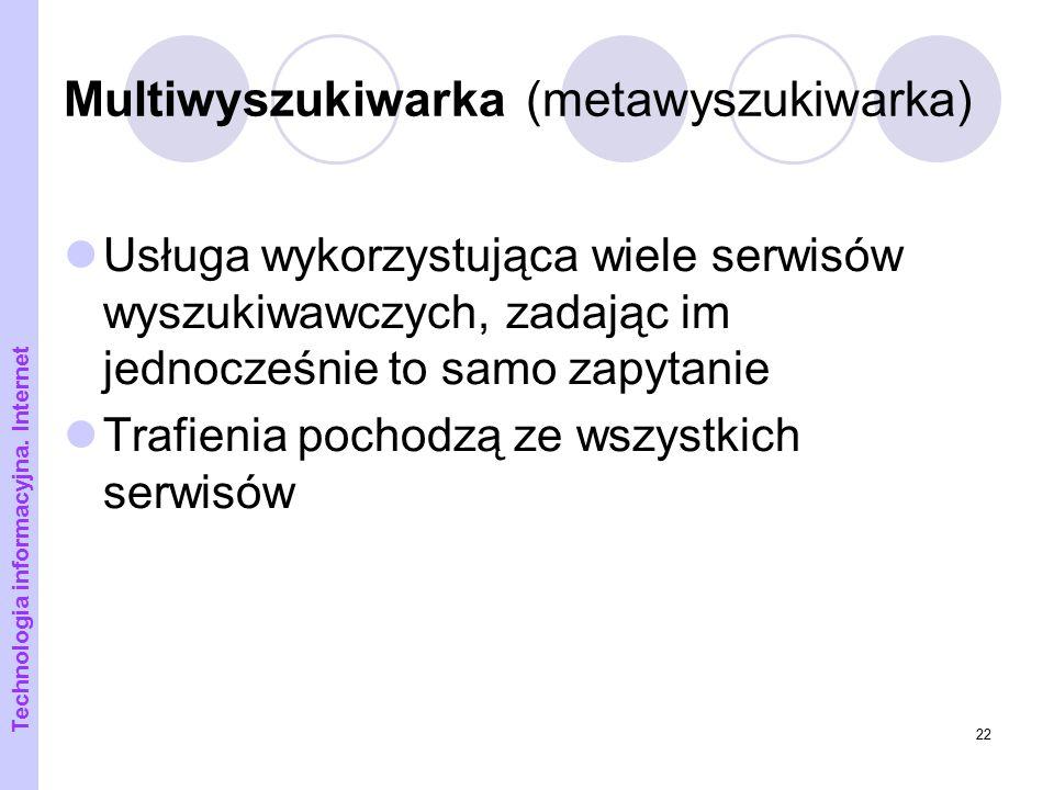 Multiwyszukiwarka (metawyszukiwarka)