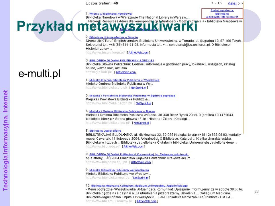 Przykład metawyszukiwarki