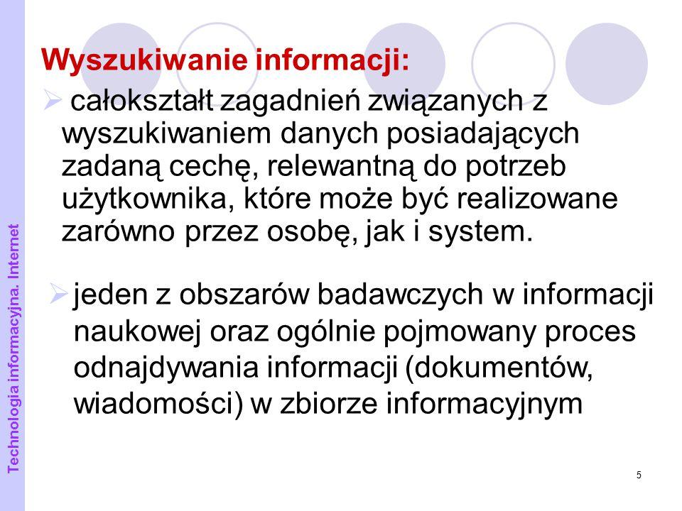 Wyszukiwanie informacji: