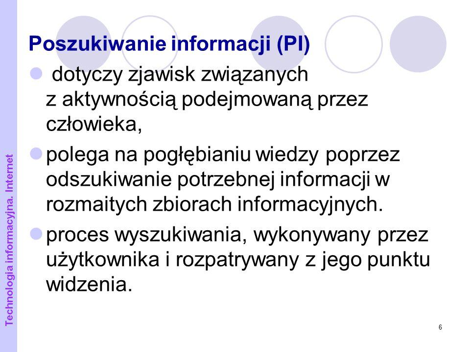 Poszukiwanie informacji (PI)