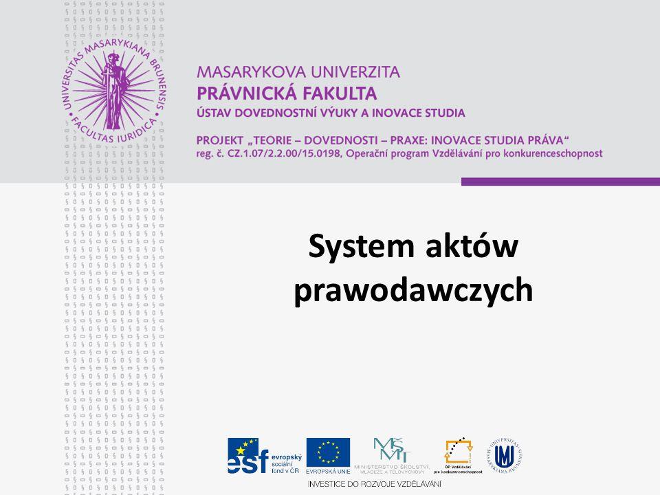 System aktów prawodawczych