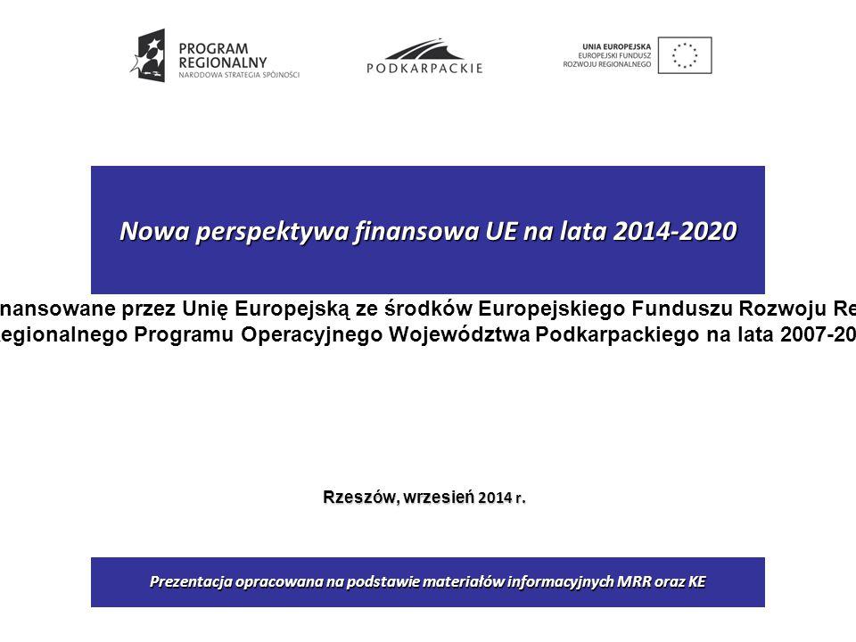 Nowa perspektywa finansowa UE na lata 2014-2020