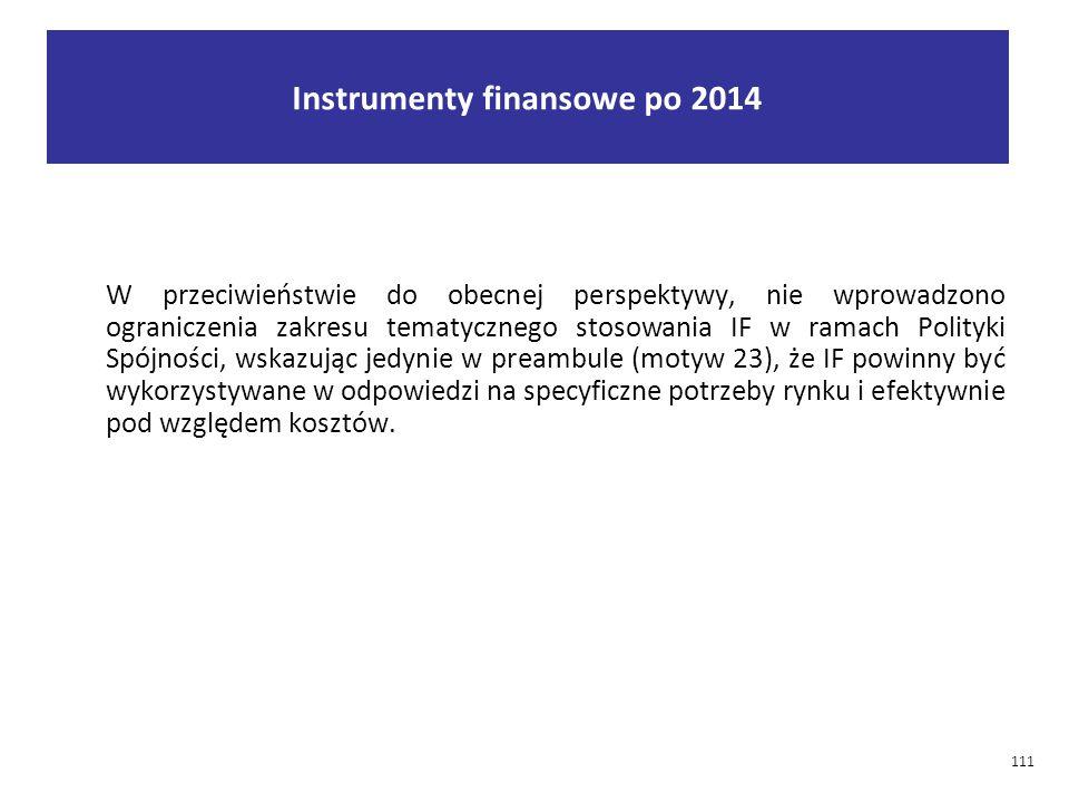 Instrumenty finansowe po 2014