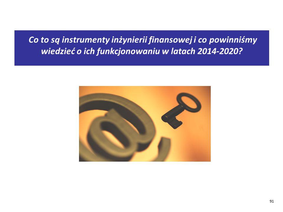Co to są instrumenty inżynierii finansowej i co powinniśmy wiedzieć o ich funkcjonowaniu w latach 2014-2020