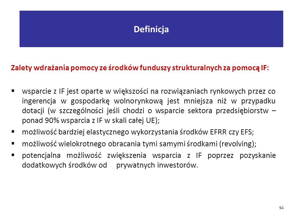 Definicja Zalety wdrażania pomocy ze środków funduszy strukturalnych za pomocą IF: