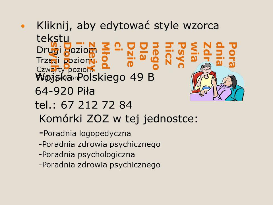 Poradnia Zdrowia Psychicznego Dla Dzieci Młodzieży i Dorosłych