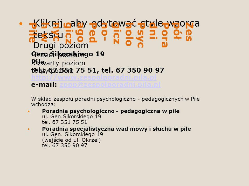Zespół Poradni Psychologiczno-Pedagogicznych w Pile