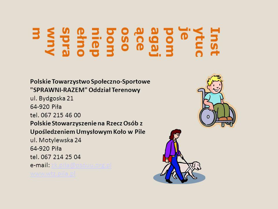 Instytucje pomagające osobom niepełnosprawnym