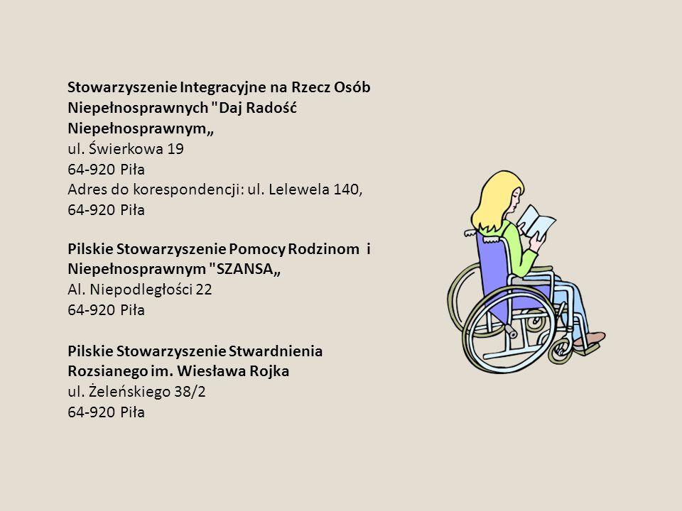 """Stowarzyszenie Integracyjne na Rzecz Osób Niepełnosprawnych Daj Radość Niepełnosprawnym"""""""