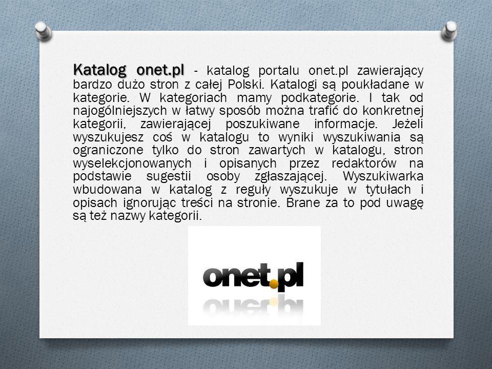 Katalog onet. pl - katalog portalu onet
