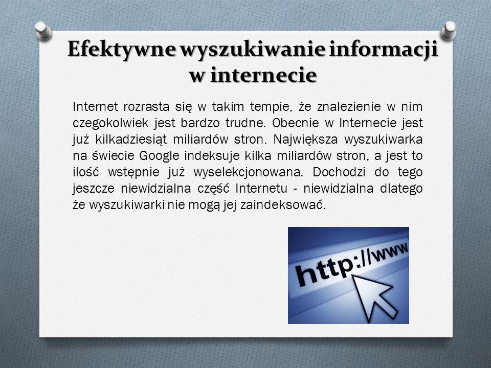 Efektywne wyszukiwanie informacji w internecie