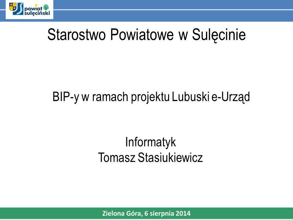 Starostwo Powiatowe w Sulęcinie