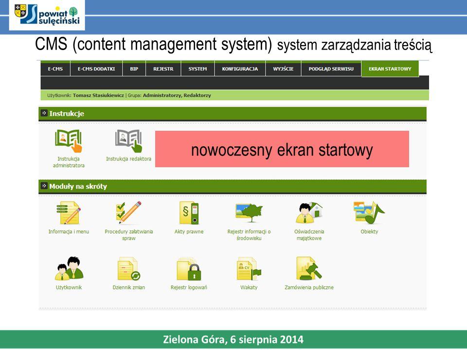 CMS (content management system) system zarządzania treścią