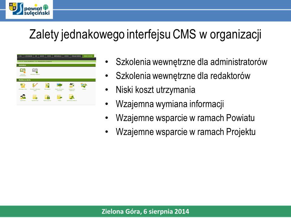 Zalety jednakowego interfejsu CMS w organizacji