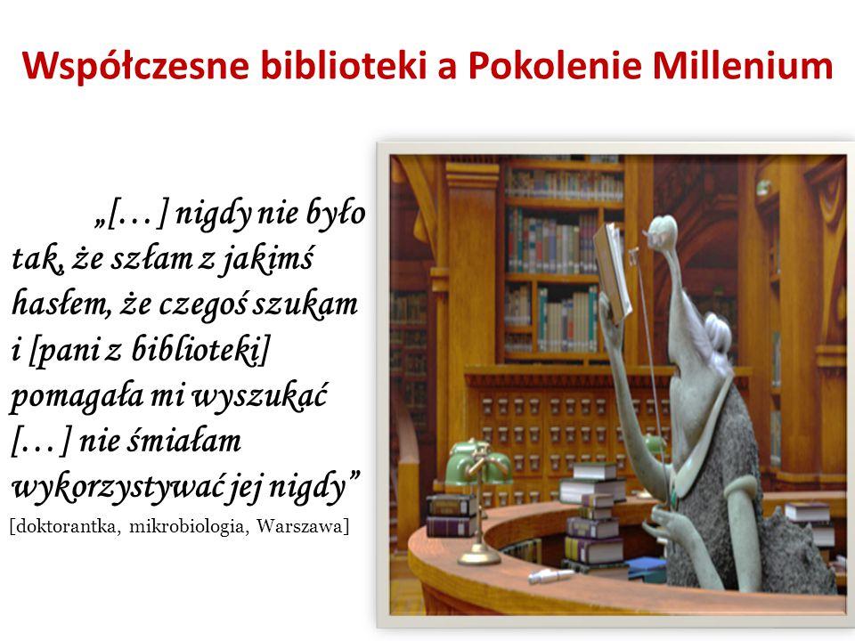 Współczesne biblioteki a Pokolenie Millenium