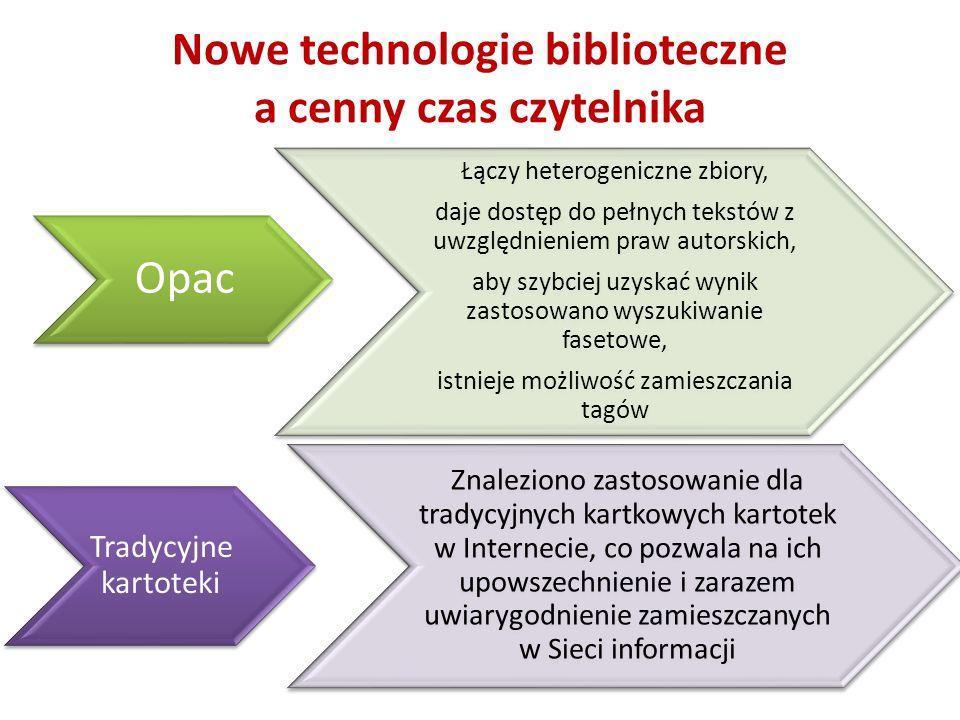 Nowe technologie biblioteczne a cenny czas czytelnika