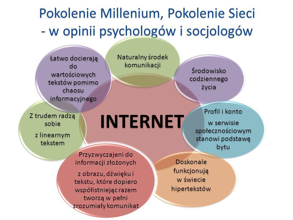 Pokolenie Millenium, Pokolenie Sieci - w opinii psychologów i socjologów