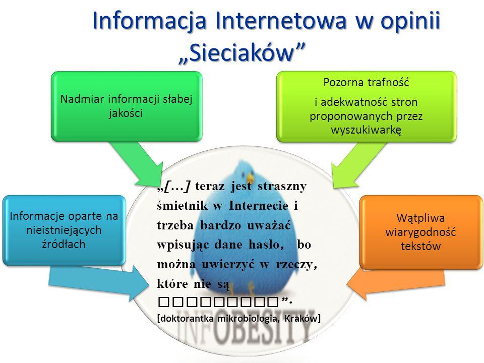 """Informacja Internetowa w opinii """"Sieciaków"""