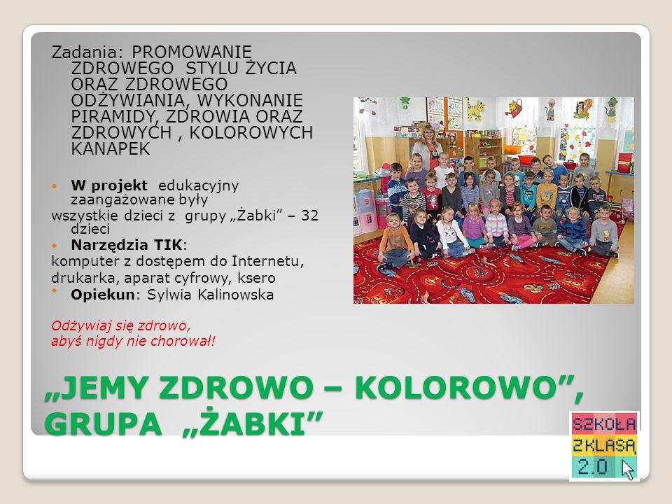 """JEMY ZDROWO – KOLOROWO , GRUPA ""ŻABKI"
