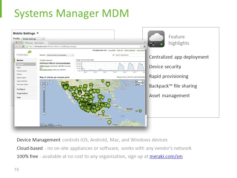 Systems Manager MDM Feature highlights Centralized app deployment