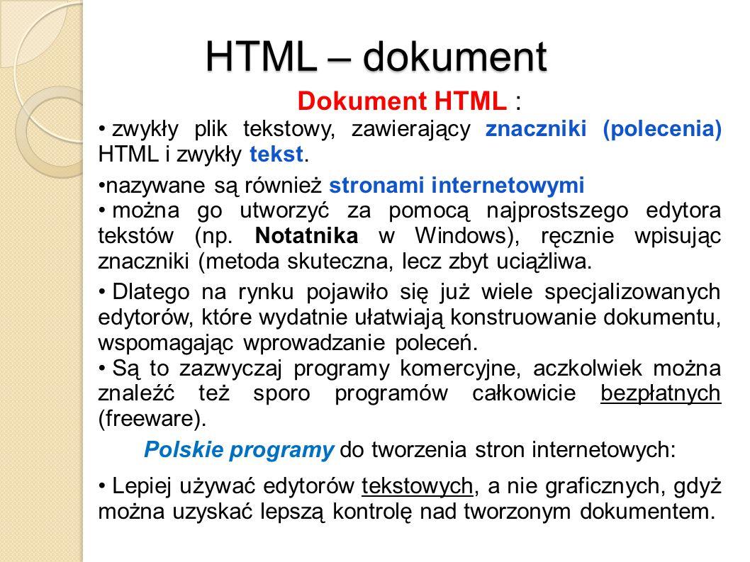 Polskie programy do tworzenia stron internetowych: