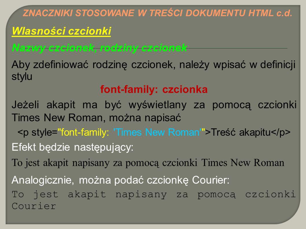 font-family: czcionka